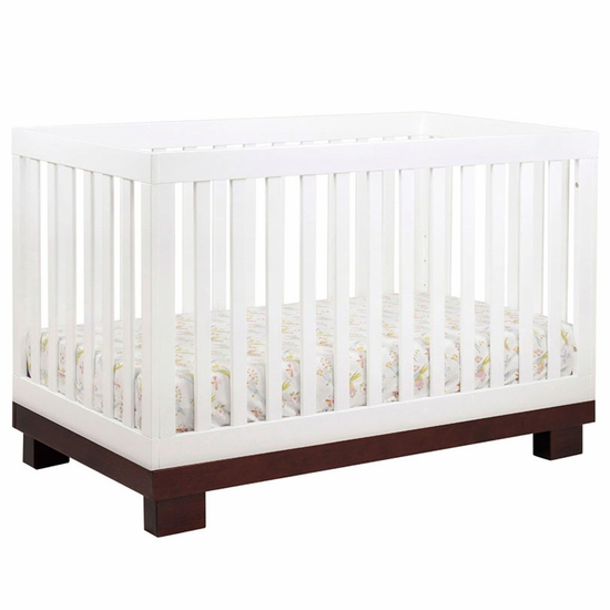 Modo Two Tone 3 in 1 Convertible Crib by BabyLetto - Click to enlarge