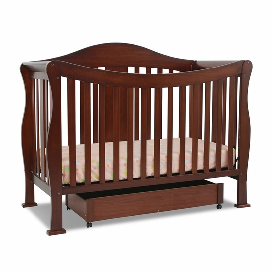 Parker Cherry 4 in 1 Convertible Crib by DaVinci - Click to enlarge