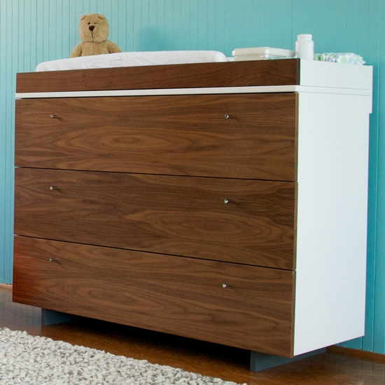 Roh White/Walnut Dresser by Spot On Square