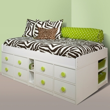 Sierra Jr. Captain's Bed with Low Frame Twin by Berg Furniture