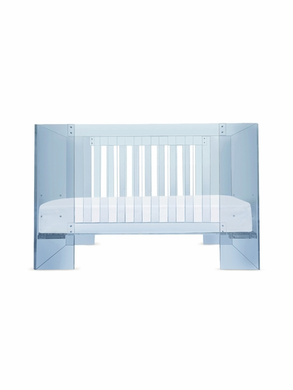 Vetro Blue Acrylic Baby Crib by Nurseryworks - Click to enlarge