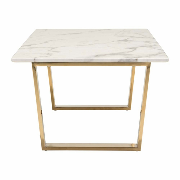 Gold Coffee Table With Stone Top: Atlas Coffee Table Stone & Gold