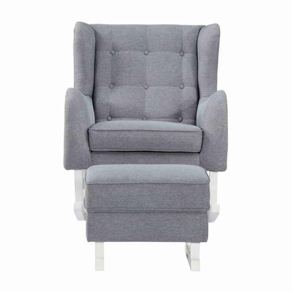 Baby Polyester Lounge Chair Gray Modern In Designs