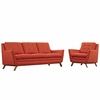 Beguile Living Room Set Fabric Set of 2