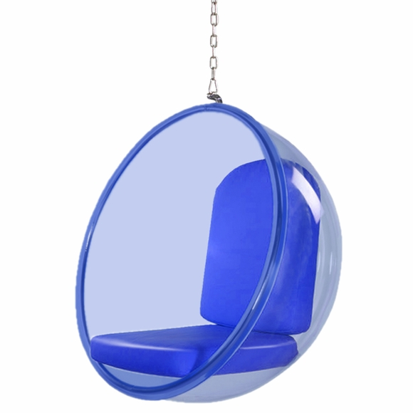 Bubble Hanging Chair Blue Acrylic Modern In Designs