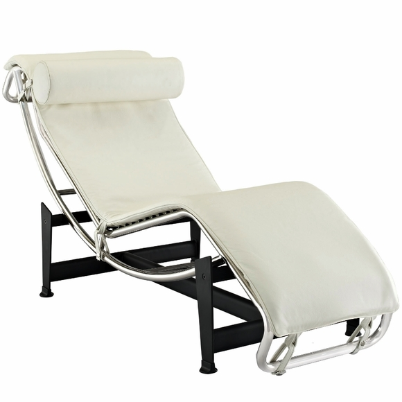 charlie chaise lounge chair leather