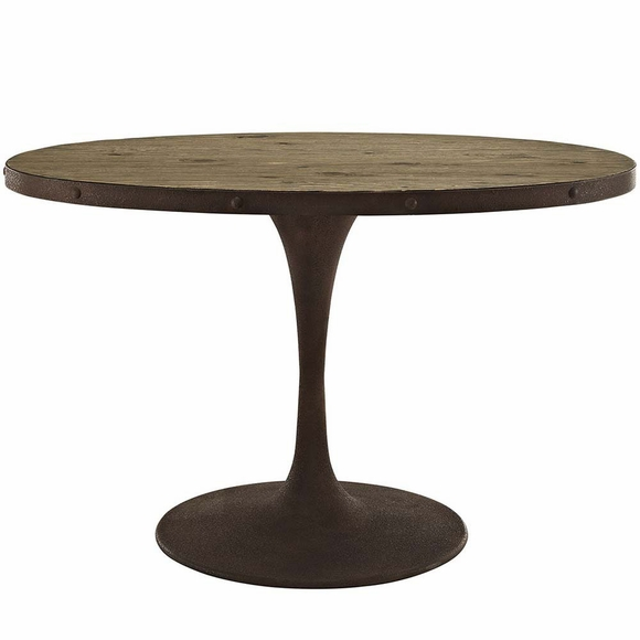 drive 47 oval wood top dining table modern in designs