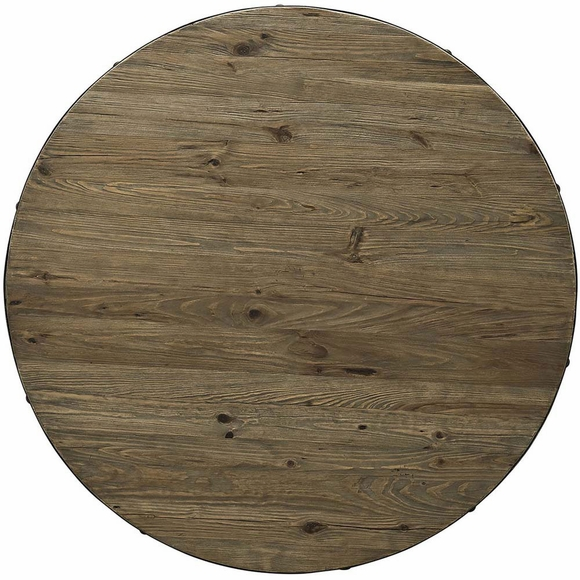 Drive 48 Quot Round Wood Top Dining Table Modern In Designs