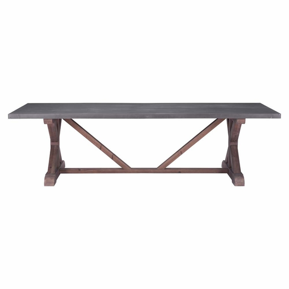 durham dining table gray distressed fir modern in designs