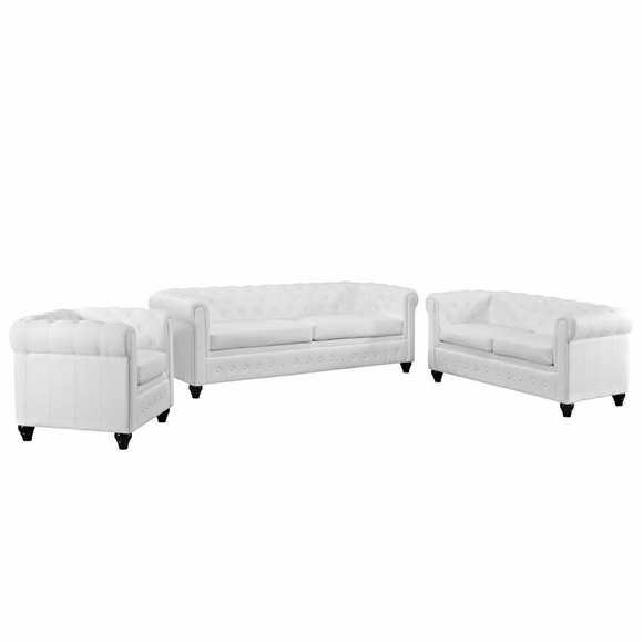 Earl 3 Piece Vinyl Living Room Set