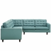 Empress 3 Piece Fabric Sectional Sofa Set