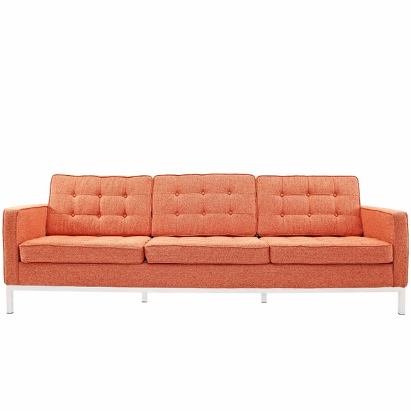 ... Florence Knoll Style 3 Seater Loft Sofa Wool ...