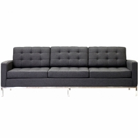Florence Knoll Style 3 Seater Loft Sofa Wool