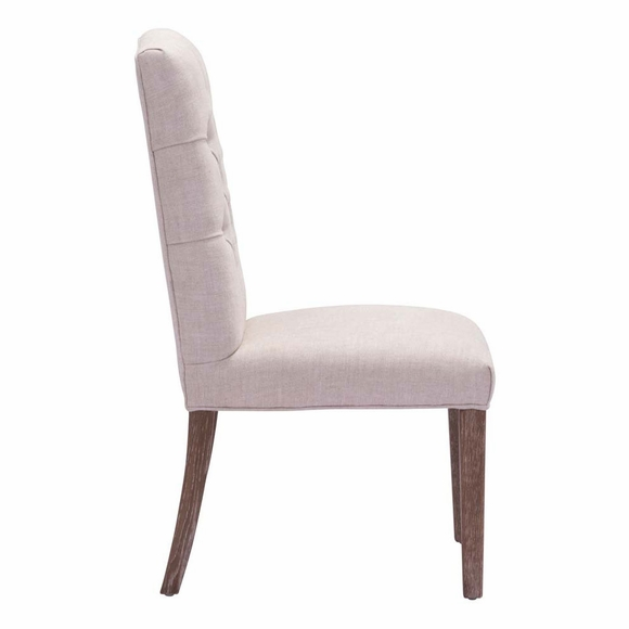 Gough Dining Chair Beige Modern In Designs
