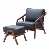 Inspot Lounge Chair and Ottoman, Gray