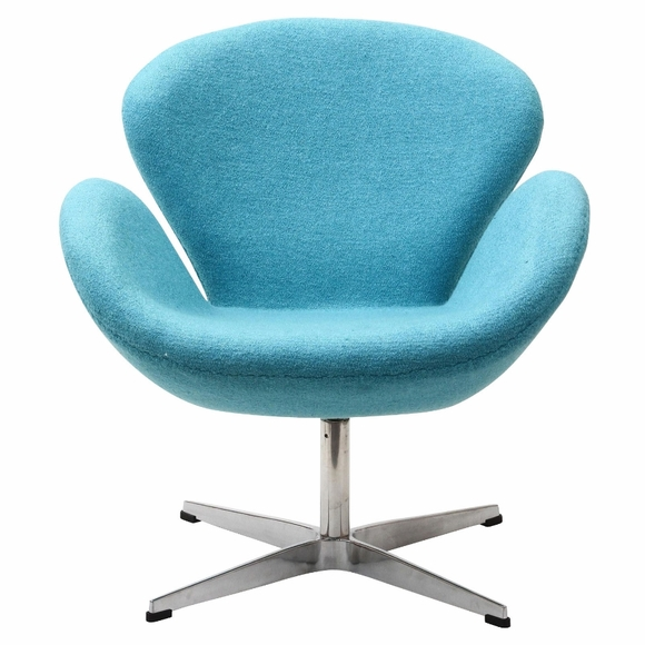 Jacobsen Swan Chair Wool Baby Blue