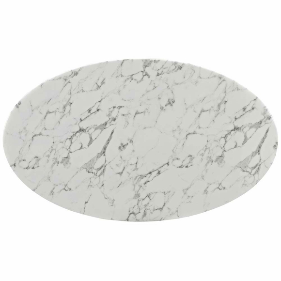 """Parker Oval Marble Coffee Table Reviews: Lippa 60"""" Oval-Shaped Artificial Marble Dining Table"""