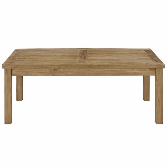 Marina Outdoor Patio Teak Rectangle Coffee Table Modern
