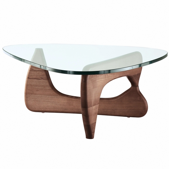25 Best Collection Of Noguchi Coffee Table Dimensions: Modern Tribeca Coffee Table Walnut