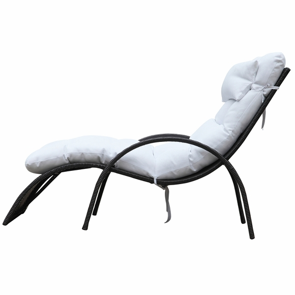 Otello Outdoor Lounge Chair White Modern In Designs