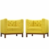 Panache Living Room Set Fabric Set of 2