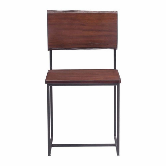 papillion dining chair distressed cherry oak modern in