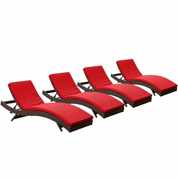 Peer Chaise Outdoor Patio Set Of 4 Modern In Designs