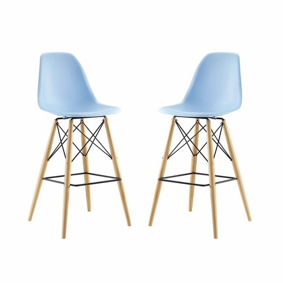 Pyramid Dining Side Bar Stool Set Of 2 Modern In Designs