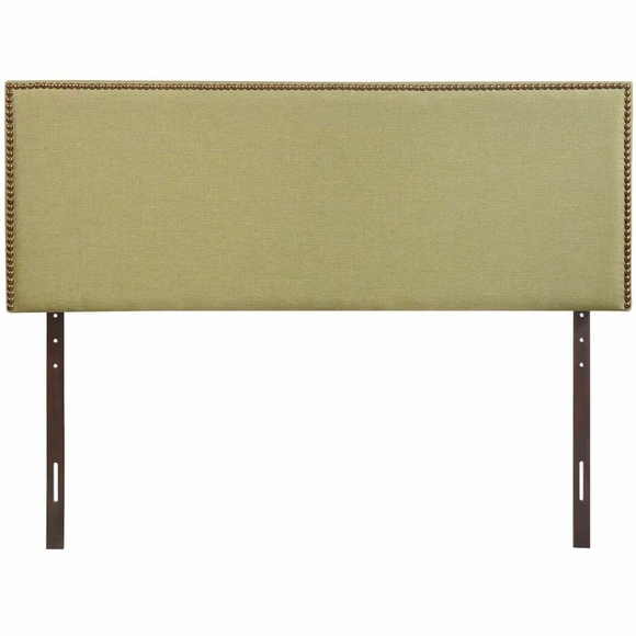 Region queen nailhead upholstered headboard modern in designs