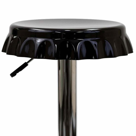 The soda bottle bar stool is sure to draw praise what a delight to