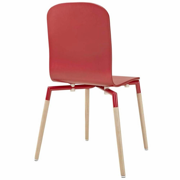 Stack dining wood side chair modern in designs
