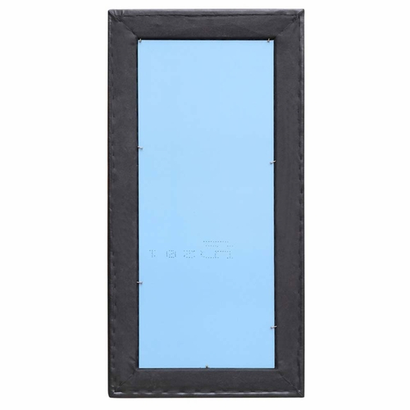 Tufted Faux Leather Mirror Modern In Designs