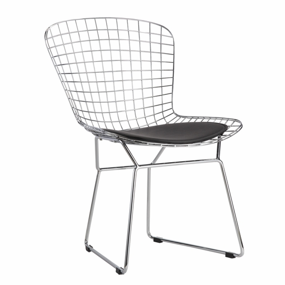 Wire dining side chair modern in designs