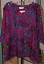 Eagle Ray Traders Kim's Tunic in Spiced Wine Rayon
