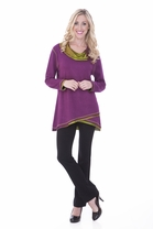 Parsley and Sage Delaney Cowl Tunic in Purple