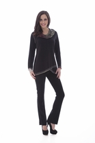 Parsley and Sage Joyce Cowl Tunic in Black