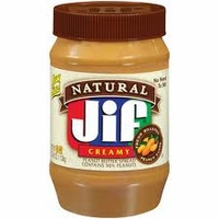 Jif Natural Peanut Butter [16 oz]