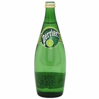 Perrier Lime 25.3 oz Glass Bottle