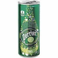 Perrier Lime Natural Sparkling Mineral Water [10 slim cans]