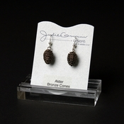 Bronze Alder Cone Earrings