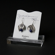 Silver Blueberry Dangle Earrings