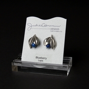 Silver Blueberry Stud Earrings