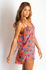 Acacia Capri silk dress in vintage aloha