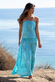 Cool Change Bianca bloussant maxi dress in surf