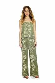 Cool Change India Justine Jumpsuit in moss/white