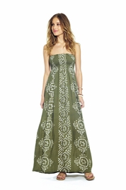 Cool Change India Pamela Maxi dress in moss/white