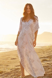 Cool Change Mykonos caftan India in white