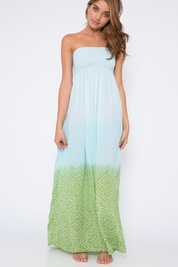 Cool Change Pamela pull on maxi dress in sage/lagoon/surf