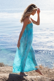 Cool Change Pamela pull on maxi dress in surf/shade