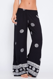 Cool Change Resort pant in black/white